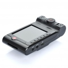 "3MP CMOS Dual-Lens Car DVR Camcorder w / 4-LED IR Night Vision / AV-Out / SD (2,7 ""TFT LCD)"