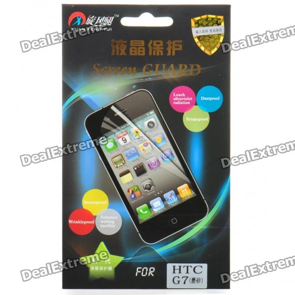 Protective Matte Frosted Screen Protector Guard Film w/ Cleaning Cloth for HTC G7