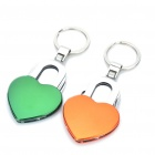 Multi-Function Love Heart Shaped Tool Knife + Can Opener + Bottle Opener + Nail File Kit w/ Keychain