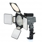 "1,4 ""LCD 6-LED White Light Video-Lampe für Kamera / Camcorder (4 x AA)"