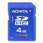 Genuine ADATA SDHC Memory Card (4GB / Class 4)