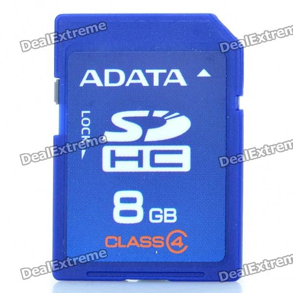 Genuine Adata SDHC Memory Card - Blue (8GB / Class 4) 330 9847 725 10225 replacement projector lamp with housing for dell s300 s300w s300wi projectors happy bate