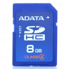 Genuine Adata SDHC Memory Card - Blue (8GB / Class 4)