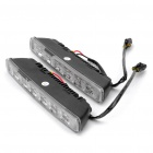 6W 6-LED White Light Daytime Running Lamps for Car (Pair/DC 9-32V)