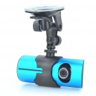 "720P Dual-Lens Car DVR Camcorder with GPS Module / TF Slot - Black + Blue (2.7"" TFT LCD)"