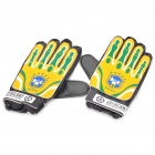 Anti-Slip Goalkeeper Gloves - Brazil (Pair)