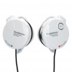 Rechargeable Sport Headphones with TF Slot / FM / MP3 Player + USB Cable + Audio Cable - White
