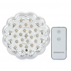 Rechargeable E27 2.5W 5000K 200LM 31-LED White Light Bulb w/ Remote Controller