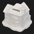House Style Vinyl Coin Bank - White