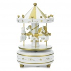 Mini Carousel Merry-Go-Round Style Rotating Music Box with