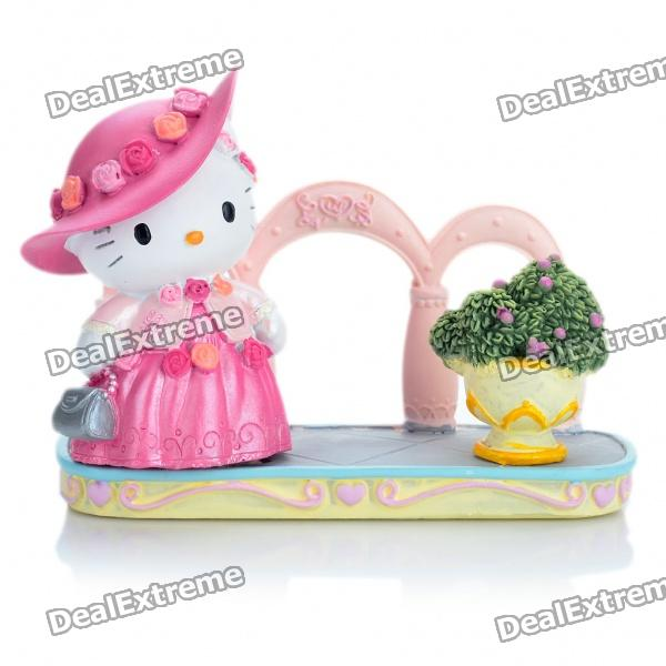 Beautiful Hello Kitty Style Business Card Name Card Holder - Pink
