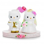 Hello Kitty & Dear Daniel Wedding Style Business Card Name Card Holder - Pink + White