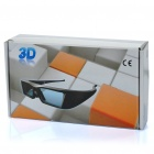 Universal USB Rechargeable IR 3D Active Shutter Glasses for Projectors - Black