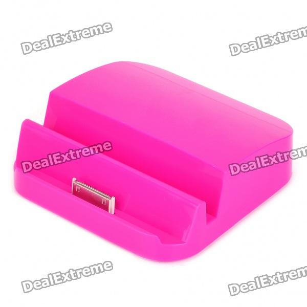 6000mAh Power Battery Dock for iPad/iPad 2 - Fuchsia