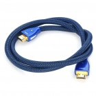 Gold Plated 3D HDMI V1.4 Male to Male Connection Cable - Blue (1M-Length)