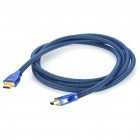Gold Plated 3D HDMI V1.4 Male to Male Connection Cable - Blue (2M-Length)