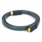 Gold Plated 3D HDMI V1.4 Male to Male Flat Connection Cable - Grey + Green (2M-Length)