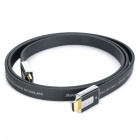 AIBORG G2800 3D HDMI V1.4 Male to Male Flat Connection Cable - Black (1.5M-Length)