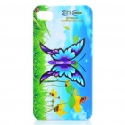 Charming Protective Case with 3D Butterfly Stand / Screen Protector for iPhone 4/4S (Multicolor)