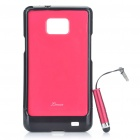 Red - Protective zurück Fall mit Screen Protector + Stylus Pen für Samsung Galaxy S2 i9100 Set