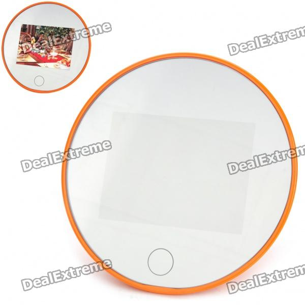 "3.5"" LCD Rechargeable Inductive Intelligent Sensor Digital Mirror Photo Frame w/ TF Slot - Orange"