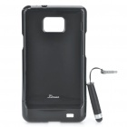 Protective Back Case with Screen Protector + Stylus Pen Set for Samsung Galaxy S2 i9100 - Black
