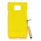 Yellow - Protective zurück Fall mit Screen Protector + Stylus Pen für Samsung Galaxy S2 i9100 Set