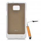 Protective zurück Fall mit Screen Protector + Stylus Pen für Samsung Galaxy S2 i9100 Set - Gold Brown