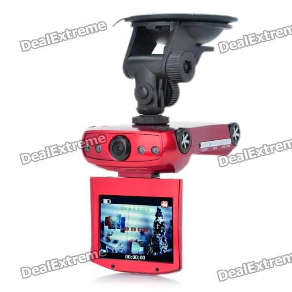 "Cool Car Shaped HD 720P 2,5 ""TFT Vehicle DVR Camcorder mit AV-Out / SD / 4-LED IR Nachtsicht"