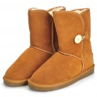 INCOME Women's Stylish Short Winter Snow Boots - Brown (EUR 36)