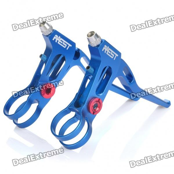 AEST CNC Aluminum Bike Brake Levers - Blue (Left + Right) adjustable extendable folding clutch brake levers for triumph speed four 03 04 2003 2004 tt 600 00 01 02 tiger 885 99 00 05 06