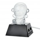 Cute Cartoon Monkey USB 4-Port HUB with Changing Colorful Light (80CM-Cable)