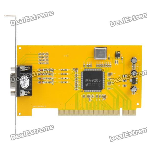 4 Channels Surveillance Security Video Audio Monitoring Capture Card original laptop motherboard for asus k52de k52dr 60 n15mb1000 rev 2 2 4 video memory non integrated graphics card 100
