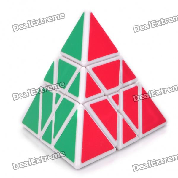 New Structure Six Axis Pyramid Magic Tube IQ Toy - White Base
