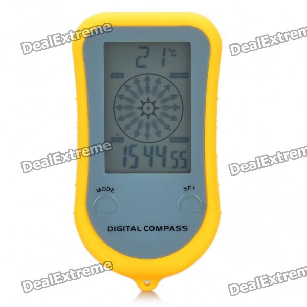 Portable 2.0 LCD Multi-function Digital Compass with Thermometer / Clock / Stopwatch (1 x CR2032) multi function green