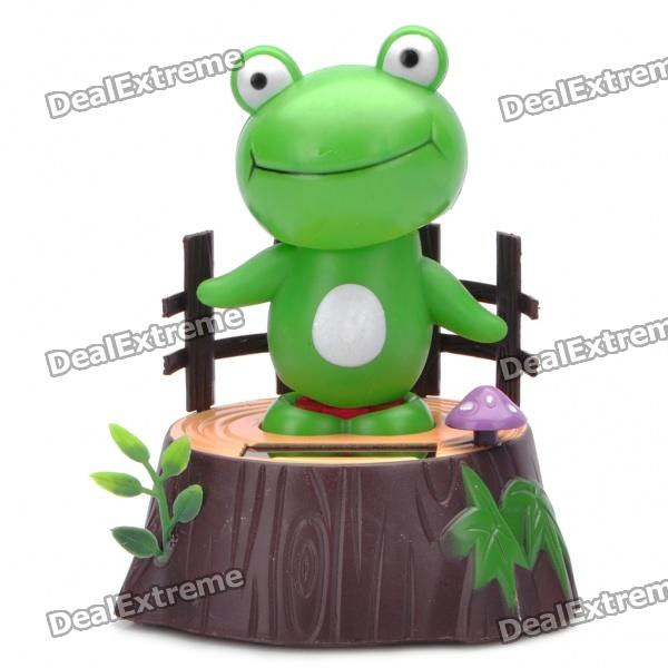 Cute Solar Powered Shaking Frog Desktop Toy