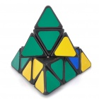 Triangular 4-Color Pyraminx Pyramid IQ Magic Cube - Black Base (9.8cm)