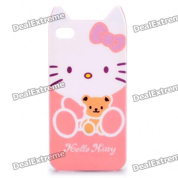 Cute Hello Kitty Style Protective Case for iPhone 4/4S - Light Pink