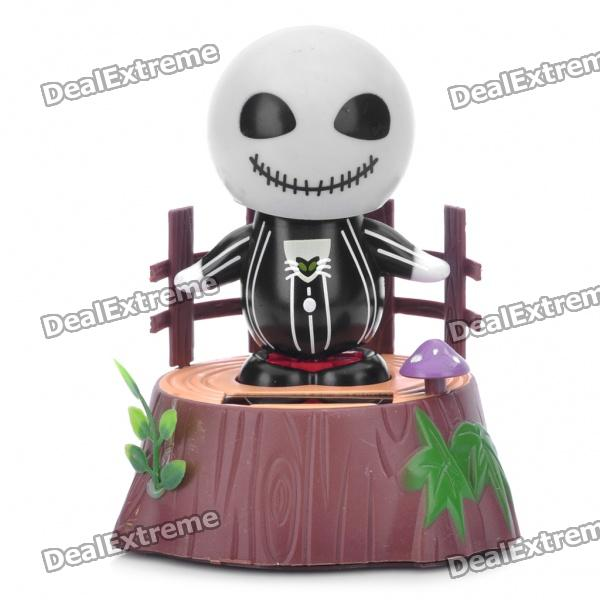 Cute Solar Powered Shaking Jack Skellington Desktop Toy
