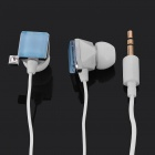 Stylish Square Rhinestone In-Ear Earphone - Blue (3.5mm-Jack / 100cm-Cable)
