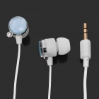 Stylish Round Rhinestone In-Ear Earphone - Blue (3.5mm-Jack / 100cm-Cable)