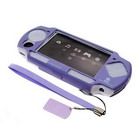 Aluminum Shell with Silicone Case and Leather Strap for PSP Slim/2000 (Purple)