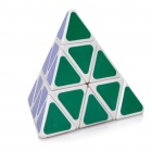 Triangular 4-Color Pyraminx Pyramid IQ Magic Cube - White Base