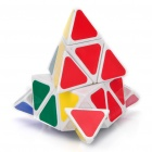 Cubo mágico triangular de Pyramid Pyraminx de 4 colores - Blanco Base