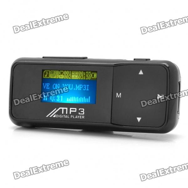 "Designer 1.1 ""LCD USB aufladbare MP3-Player w / FM - Black (2GB)"