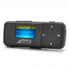 "Designer's 1.1"" LCD USB Rechargeable MP3 Player w/ FM - Black (2GB)"
