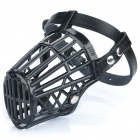Plastic Dog Basket Cage Muzzle with Adjustable Strap - Black (Size 1)