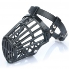 Plastic Dog Basket Cage Muzzle with Adjustable Strap - Black (Size 2)