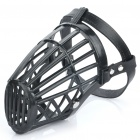 Plastic Dog Basket Cage Muzzle with Adjustable Strap - Black (Size 5)