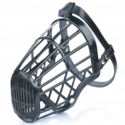 Plastic Dog Basket Cage Muzzle with Adjustable Strap - Black (Size 6)
